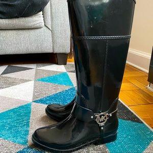 Michael Kors Black Fulton Rain boots size 8